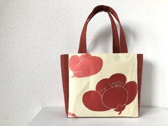 帯バッグ〜紅梅〜の画像