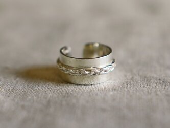 Braid silver ring (三つ編み)の画像