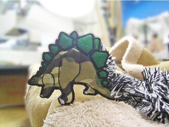 ★人気のステゴサウルス/カモフラージュ柄2★ワッペン1枚-10の画像