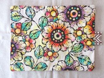 帆布 手描きのおやつマット(花柄) 07の画像
