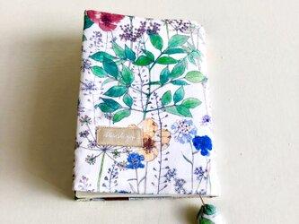 草花のブックカバーの画像
