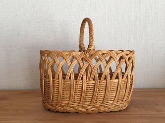 つるかけ編みのトートかごバッグの画像