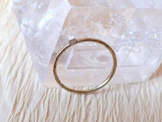 銀一粒リング(真鍮+シルバーキューブ)の画像