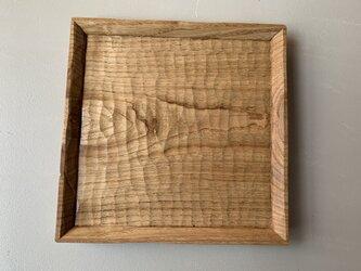 クリの木の角皿  パン皿の画像
