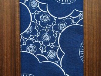 天然藍の型染め手拭い  梅の画像