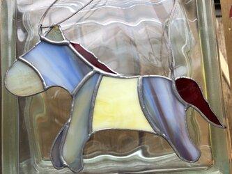 ステンドグラス お馬の画像