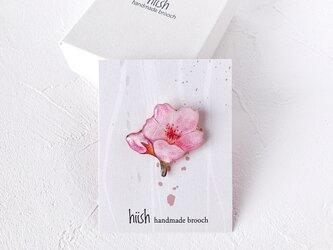 桜ひと枝のブローチ(ボックス入り)の画像