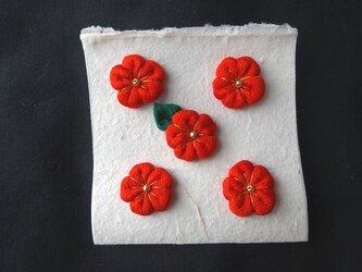 古布 お花のパーツ✿5個セット no119の画像