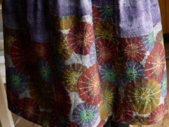 ウール反物2種からスカートの画像