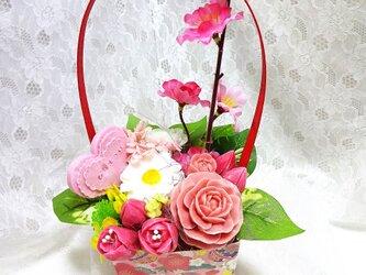 sale石鹸彫刻 香る花のアレンジメントの画像