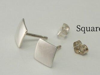 SquareW7 -四角いピアス(スタッド)-の画像