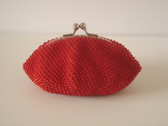 Beaded Purse --Shiny Red--の画像