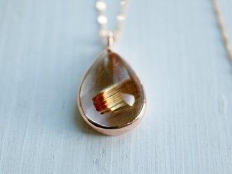 K10[ルチルの実]ルチルクォーツ ロングネックレス 針水晶の画像