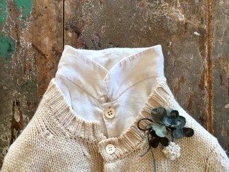 ぽんぽん白つめの草。。。suMire-bouquet布花コサージュ。の画像