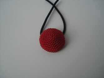 Hair tie (M) --Deep Red--の画像