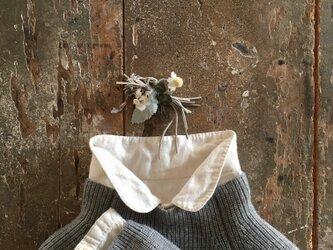 ナチュラルコーム。。。suMire-bouquet布花コサージュ。の画像