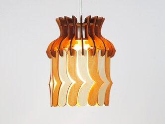 「バード」木製パネルペンダントライトの画像