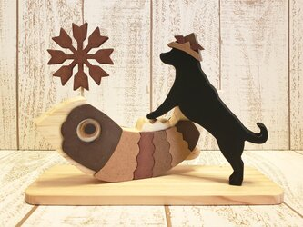 端午の節句☆ラブラドールレトリバーが遊ぶ五月人形☆こどもの日☆犬種の変更も可能!の画像