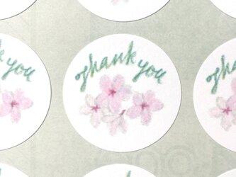 桜のサンキューシールの画像