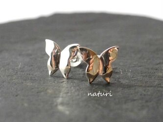 【papillon】sv925 butterfly pierce (2pcs)の画像
