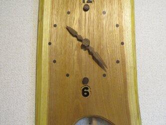 北海道産キハダ振り子時計  NO2の画像