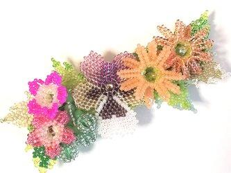 バレッタ Bouquet  (パンジー パープル)の画像