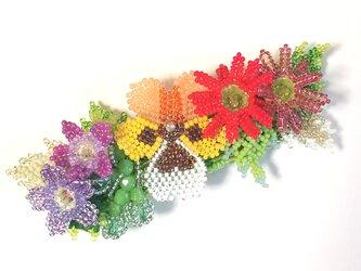 バレッタ Bouquet  (パンジー オレンジ)の画像