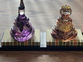 福ぷくガラスの雛人形 藤紫  (桃の節句)おひなさまの画像