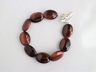 Oval bracelet(レッドタイガーアイ)の画像