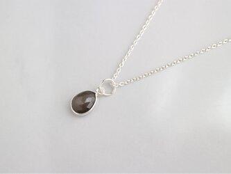 Silver グレームーンストーンのネックレス(M)の画像