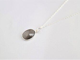 Silver グレームーンストーンのネックレス(L)の画像