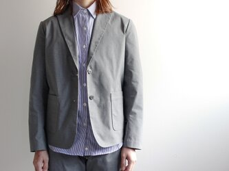 durable tailored jacket/grayの画像