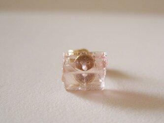 ピンクトルマリンの原石ピアス/Brasil 片耳 14kgfの画像
