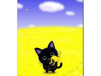 「はい、どうぞ^^春、持ってきたよ♪」 ほっこり癒しのイラストポストカード2枚組No.699の画像