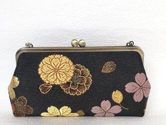 桜蒔絵文 クラッチバッグの画像
