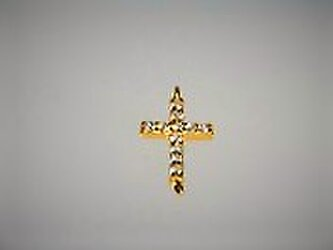 【シルバートップ・ジョイント】クロス丸環2個付き・ゴールドの画像