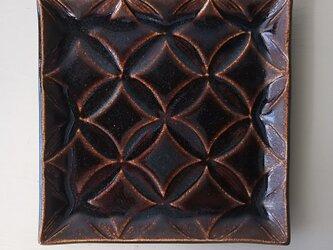 綾series/角皿Msize(chocolate)の画像