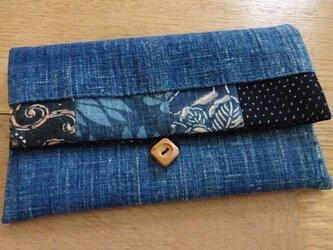 藍染木綿を楽しむポーチ(壱)の画像