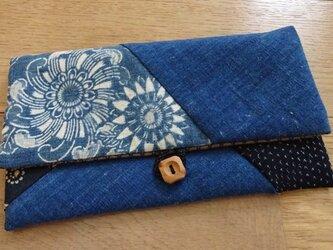 藍染木綿を楽しむポーチ(弐)の画像