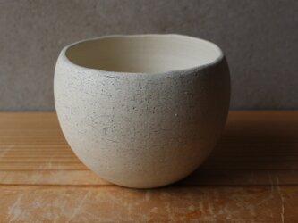 植木鉢 揺ら(地器chiki)白 陶土の画像