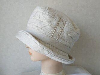 魅せる帽子☆ドレープが素敵♪飾りボタンのクロッシュの画像