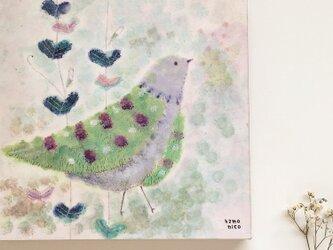 春の18cm panel・おしゃれなハトの画像