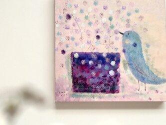 春の18cm panel・空色のとりの画像