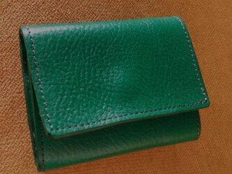 三つ折り財布・トスカーナ・グリーンの画像