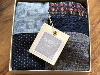 季節の贈りもの #遠州織物パッチワークストールの画像