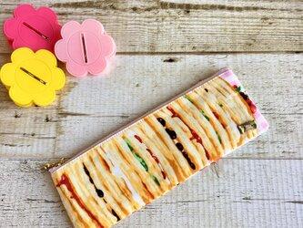 ベリーとパンケーキのリボンペンケース小物入れの画像