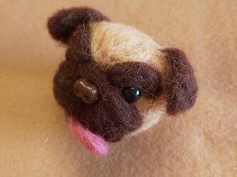 ぱぐの羊毛ブローチの画像