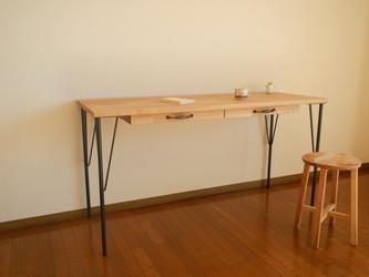 Oak Desk 2Drawerの画像