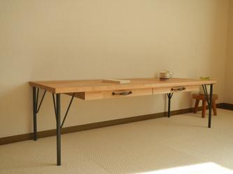 Oak Desk 2Drawer . lowの画像