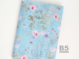 リバティ B5大学ノートカバー イルマ 水色とピンクの画像